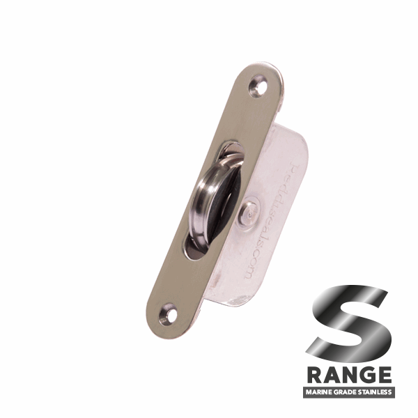 Standard Curved Wheel Sash Pulley - radius-end - stainless-steel