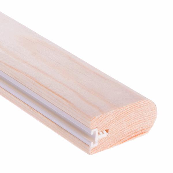Scottish Timber Staff Bead 33 x 16mm - natural - 1-x-3m-length