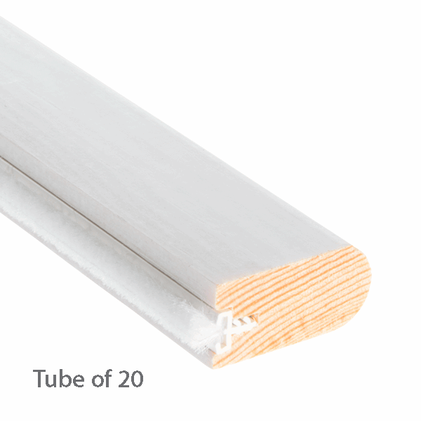 Scottish Timber Staff Bead 33 x 16mm - primed-with-reddipile - 20-x-3m-length
