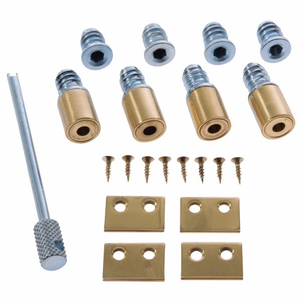 Locking Secure Stop - 19mm - polished-brass