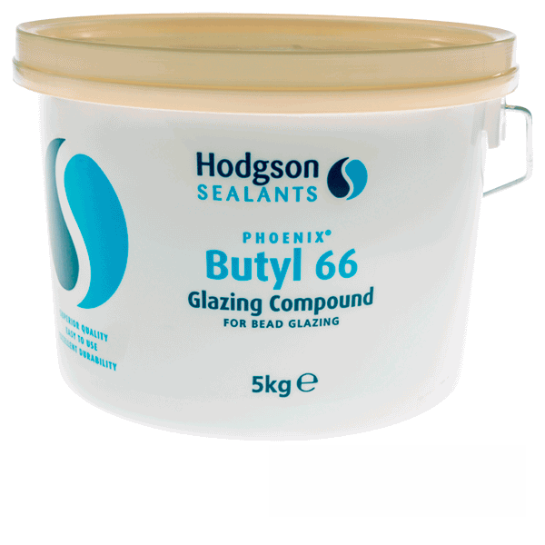 Hodgson Glazing Butyl Putty - 5kg-tub