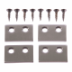 Strike Plate - satin-nickel