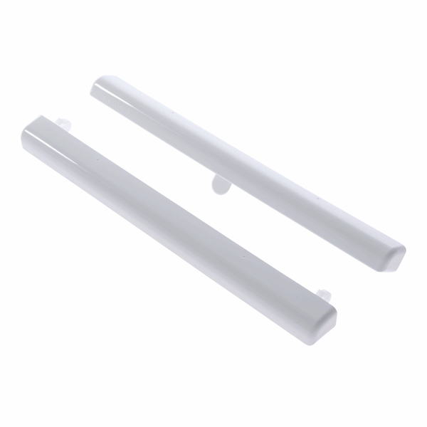 Slotted For Surface Mounting Slimline - 2000mm - white